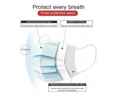 Медицинская одноразовая маска 3х слойная EN14683 FDA - Image 1