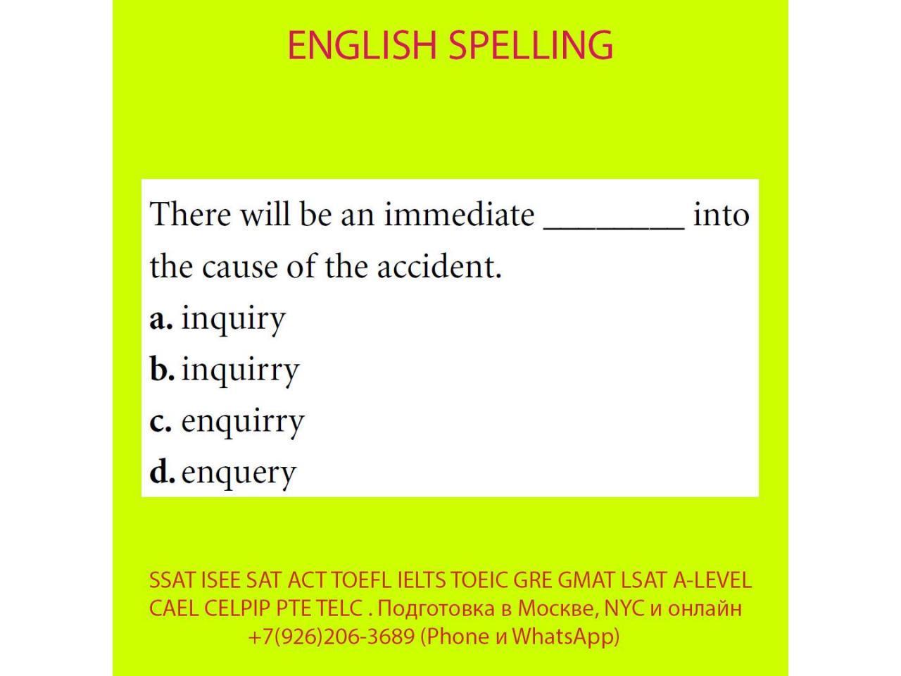 Подготовка к SSAT ISEE SAT ACT TOEFL IELTS TOEIC GRE GMAT LSAT A-LEVEL BEC CAEL CELPIP PTE TELC - 11