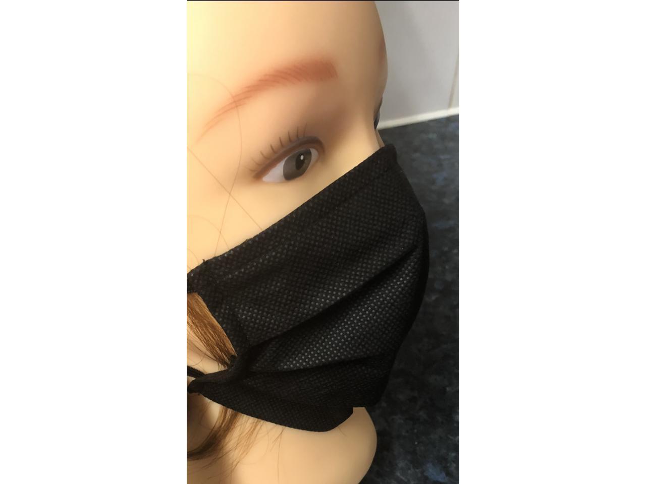 защитная маска для лица , черная. - 1