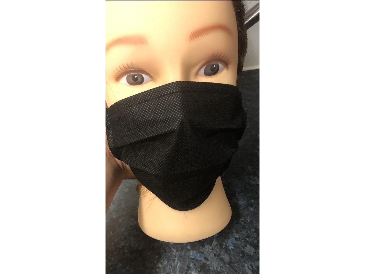 защитная маска для лица , черная. - 2