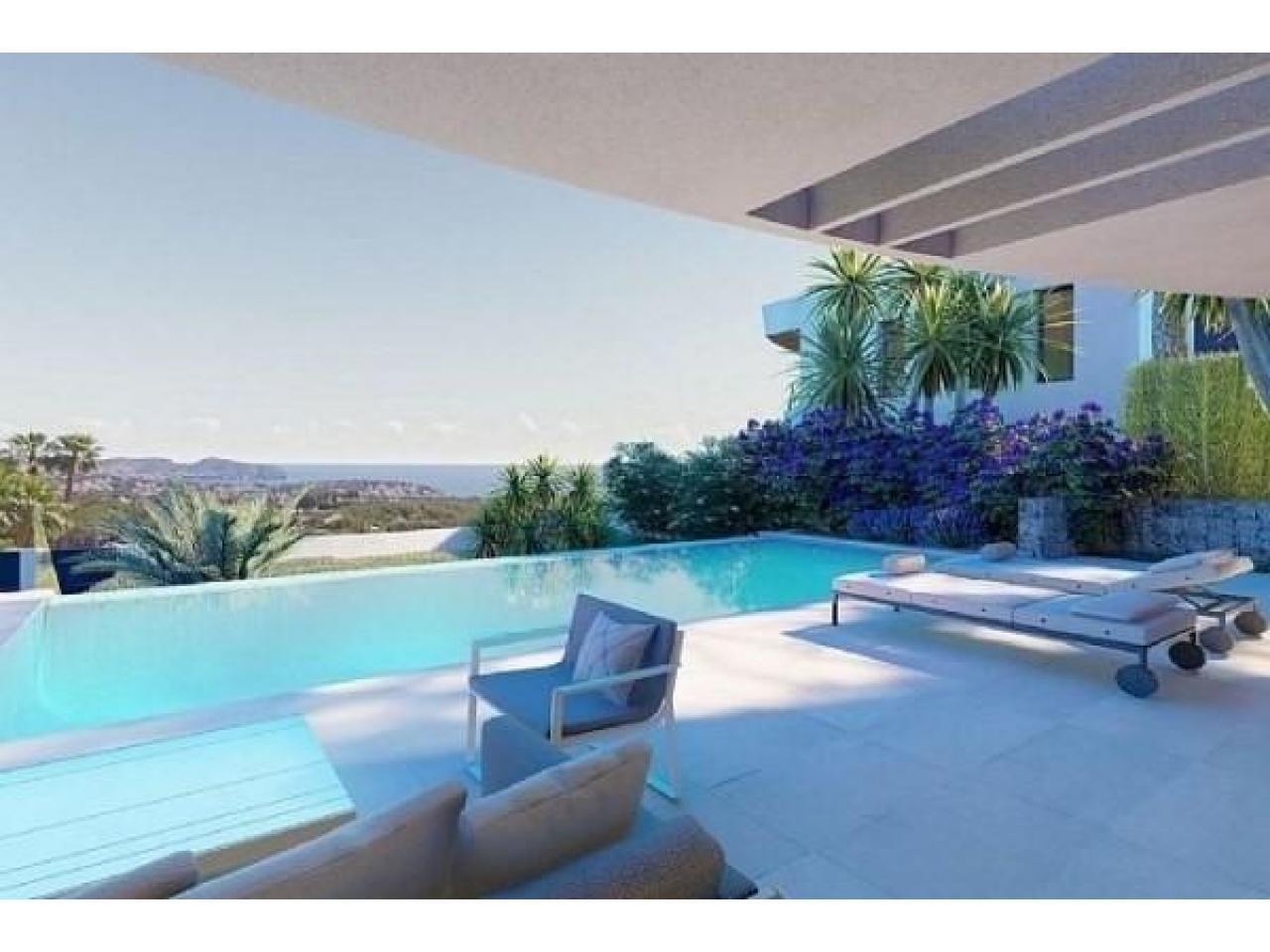 Недвижимость в Испании, Новая вилла с видами на море от застройщика в Морайра,Коста Бланка,Испания - 3