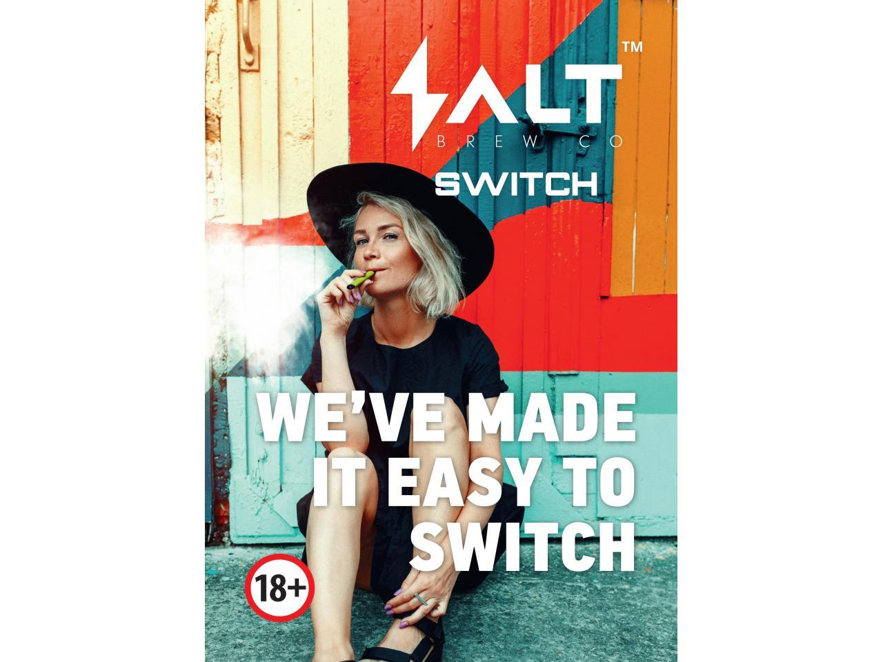 распространение и продажa новых одноразовых вейпов «salt switch». - 1