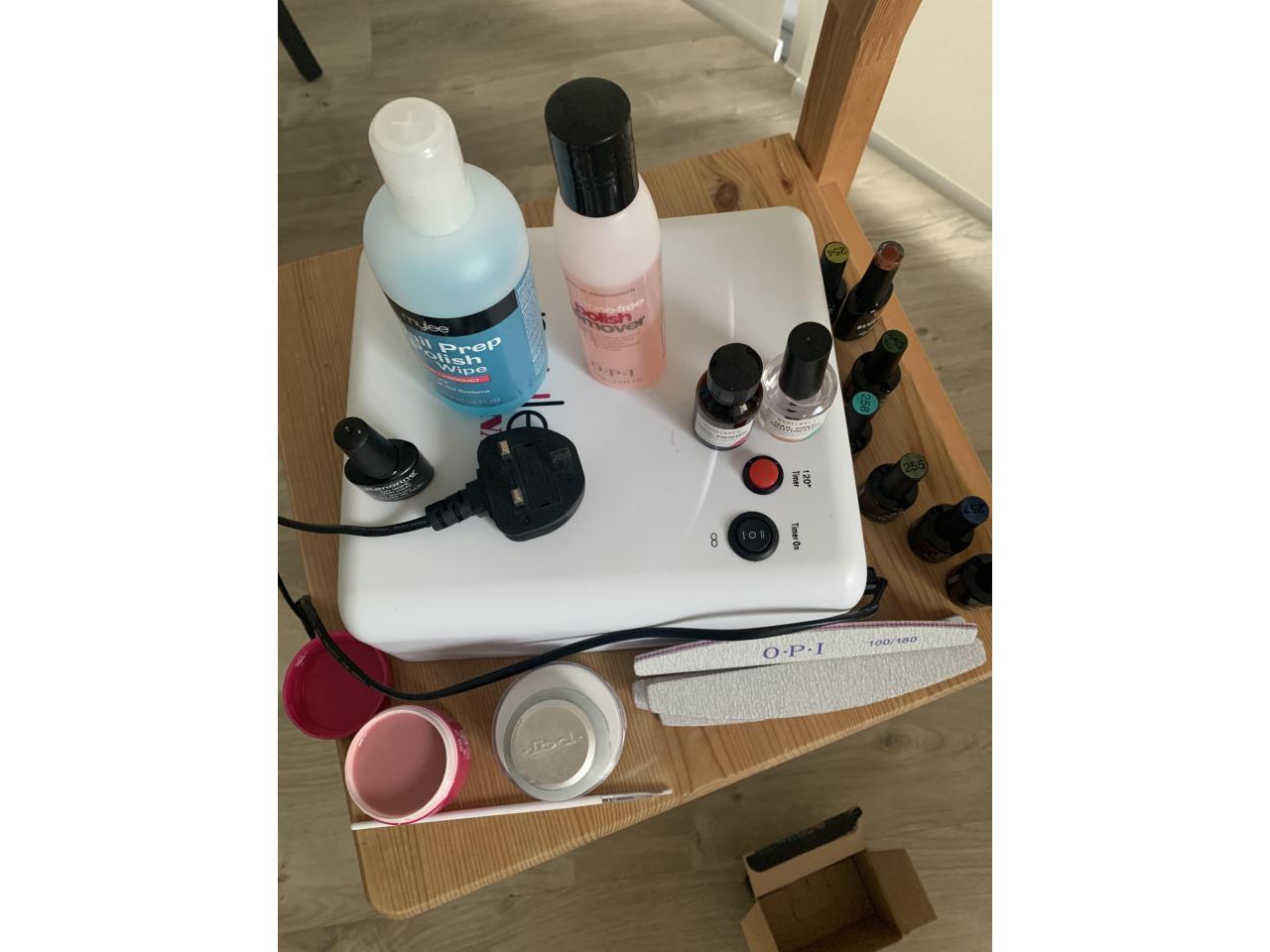 UV lamp для ногтей 36 ватт и набор для покрытия - 6