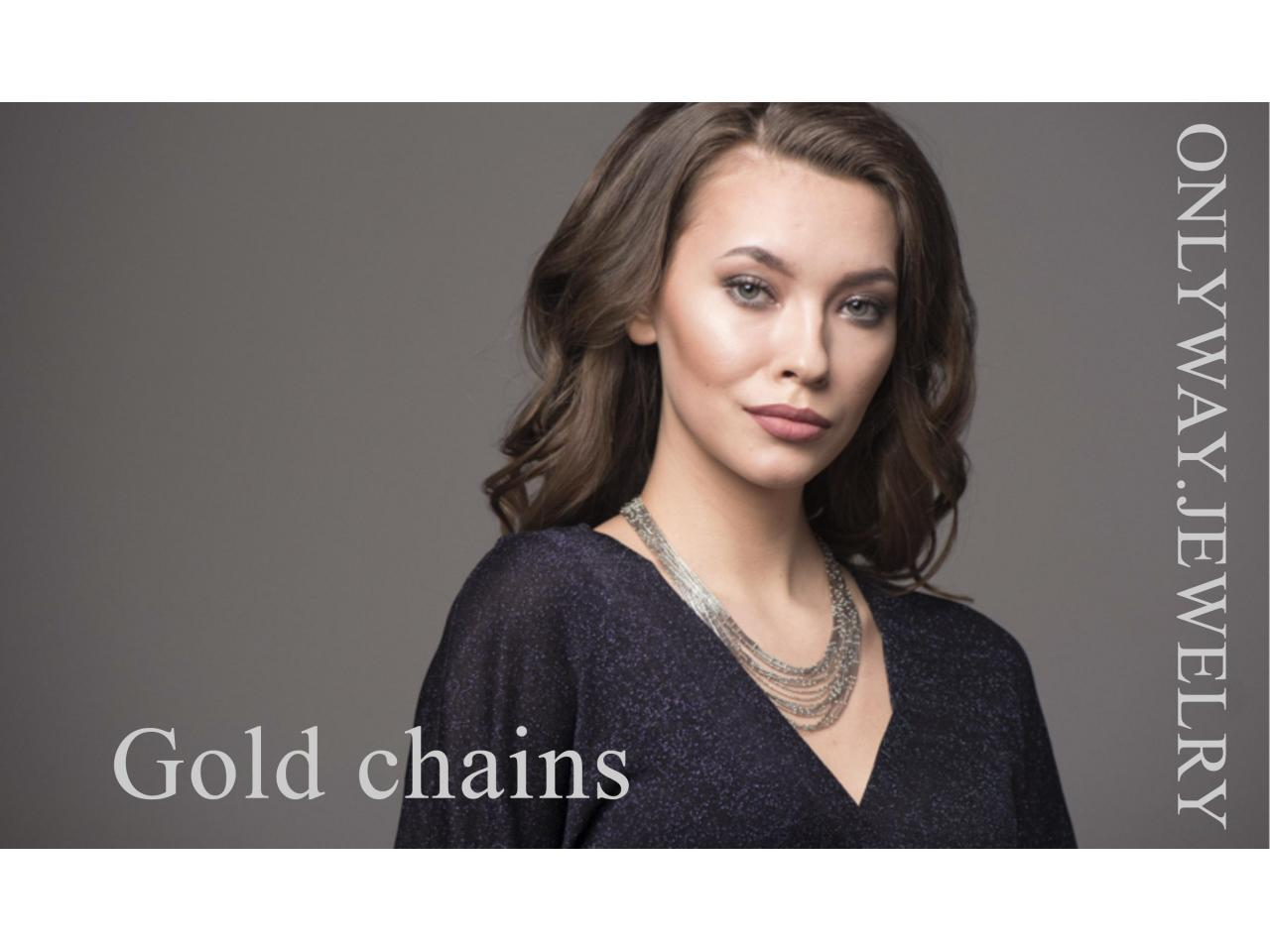 Gold chains and bracelets, wholesale and retail. - 3