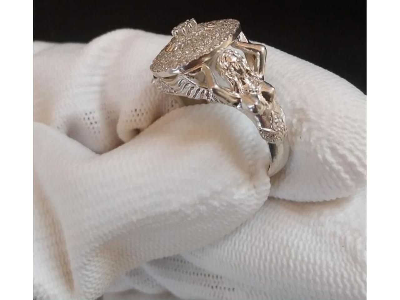 Кольцо эксклюзивное серебро - 1