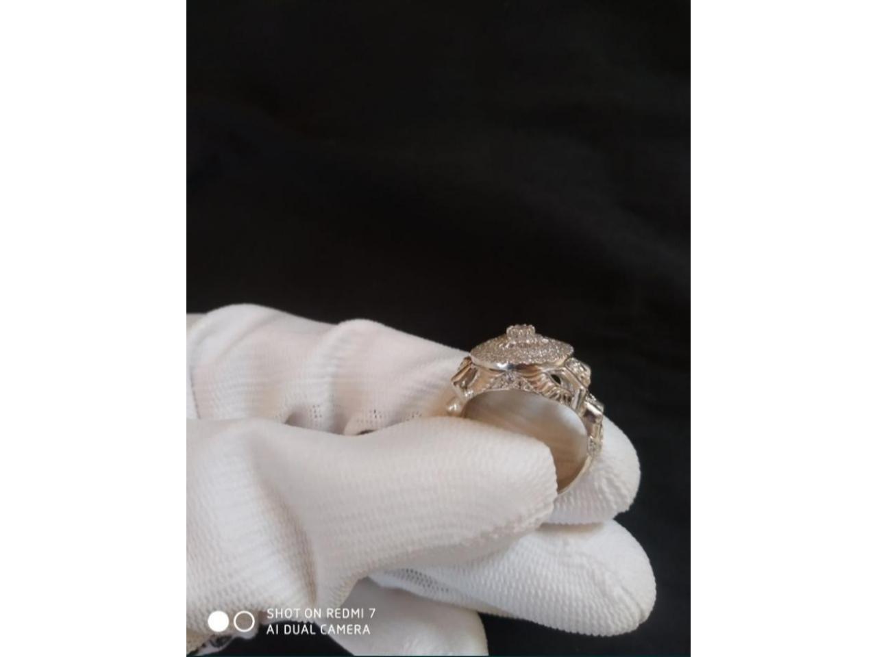 Кольцо эксклюзивное серебро - 3