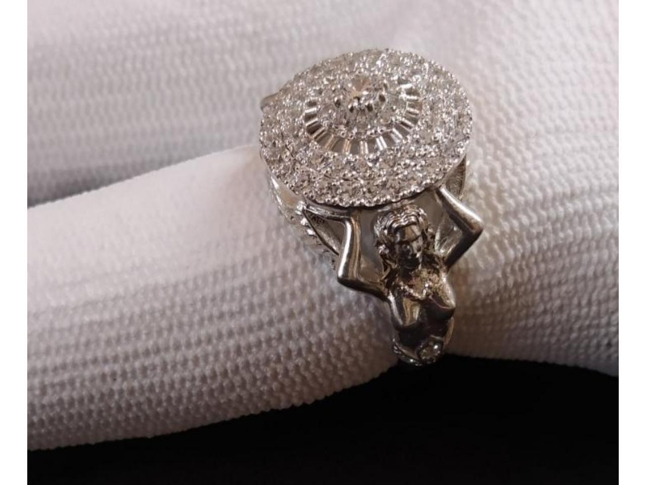 Кольцо эксклюзивное серебро - 5