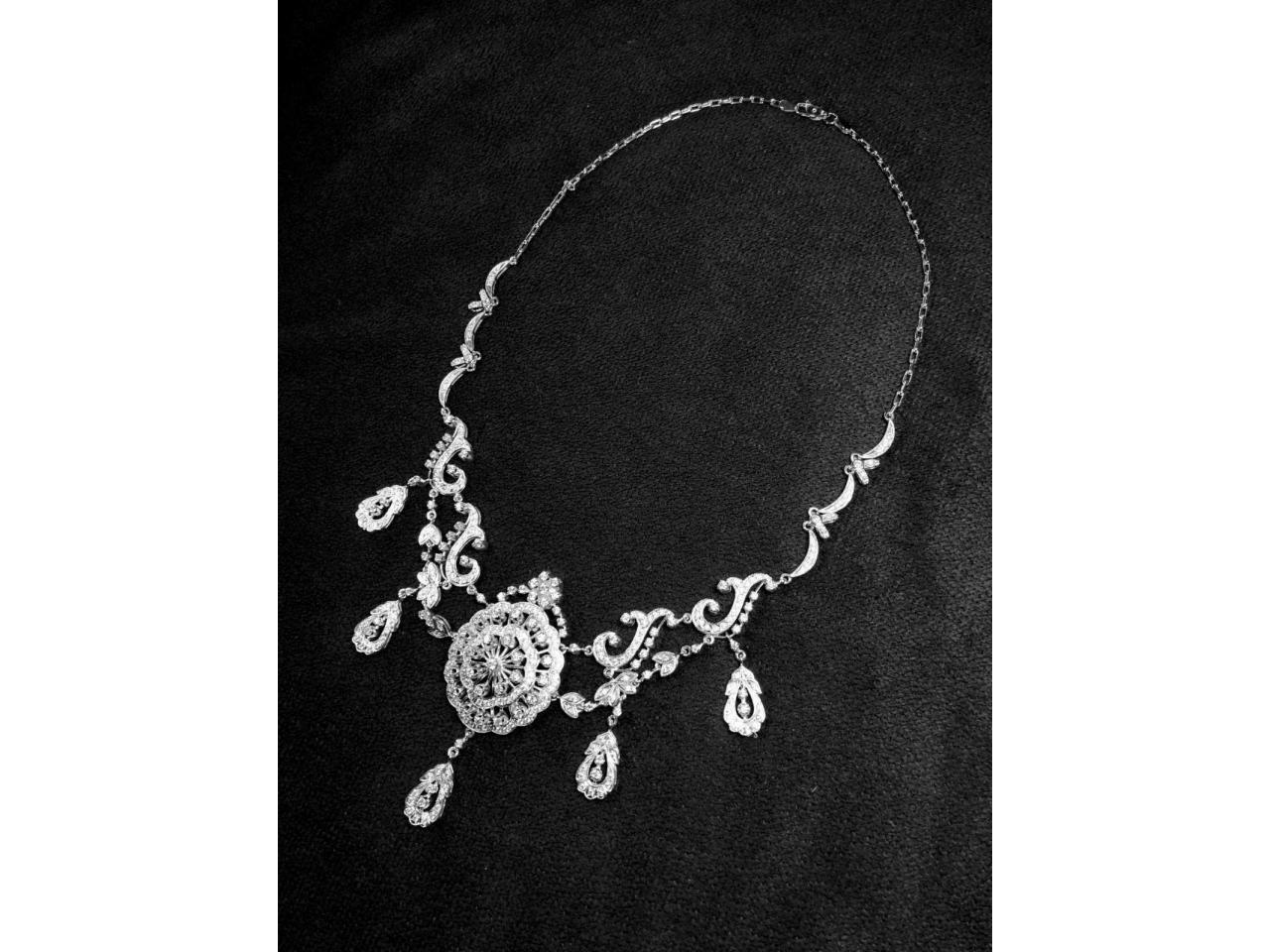Эксклюзивное ожерелье и брослет серебро 925 пробы - 1