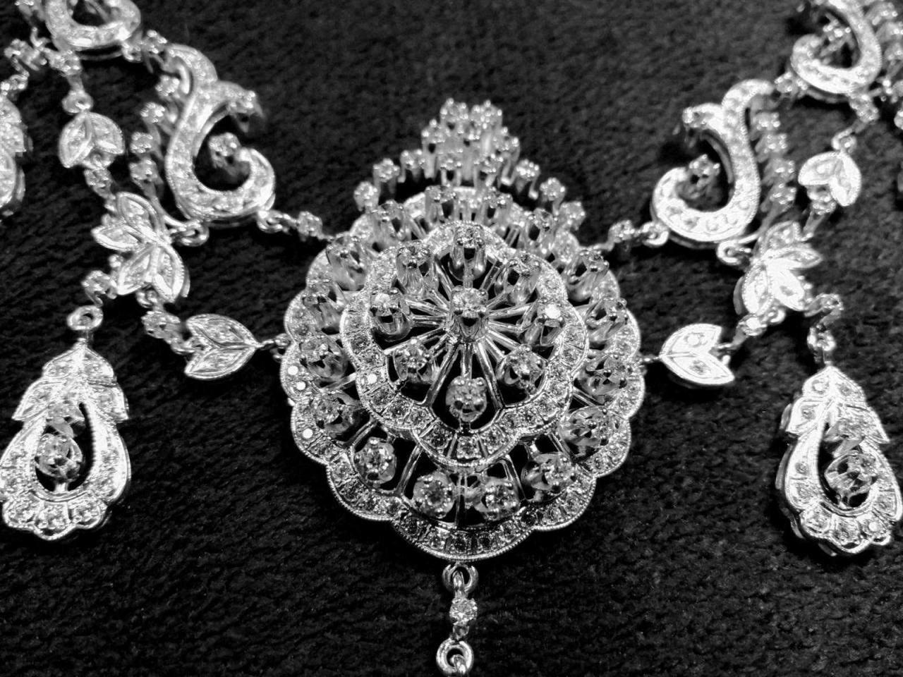 Эксклюзивное ожерелье и брослет серебро 925 пробы - 2