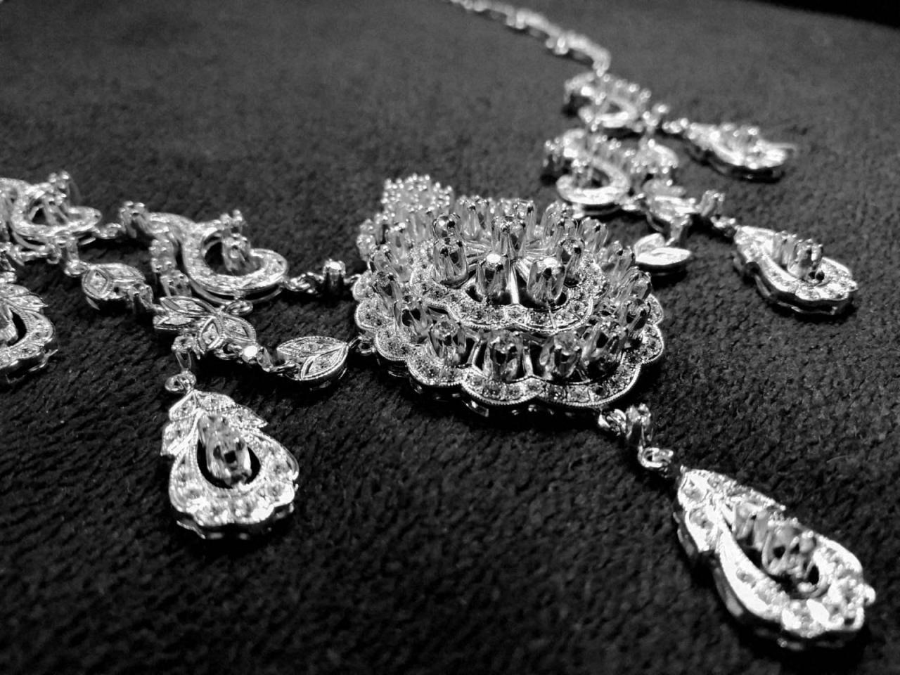 Эксклюзивное ожерелье и брослет серебро 925 пробы - 3