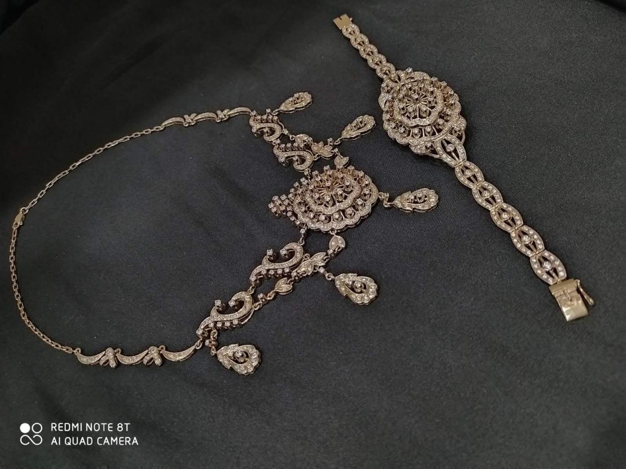Эксклюзивное ожерелье и брослет серебро 925 пробы - 4