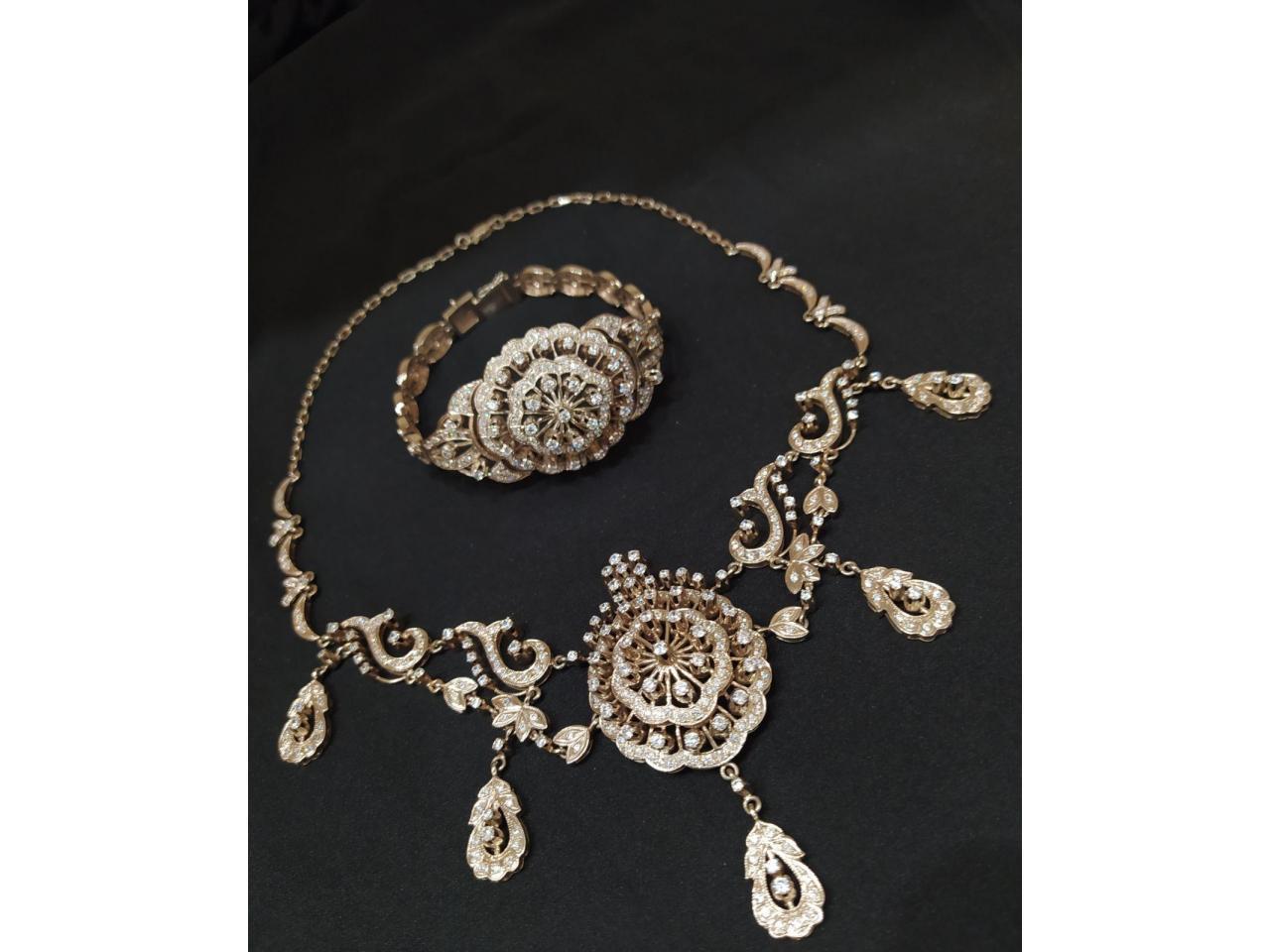 Эксклюзивное ожерелье и брослет серебро 925 пробы - 5