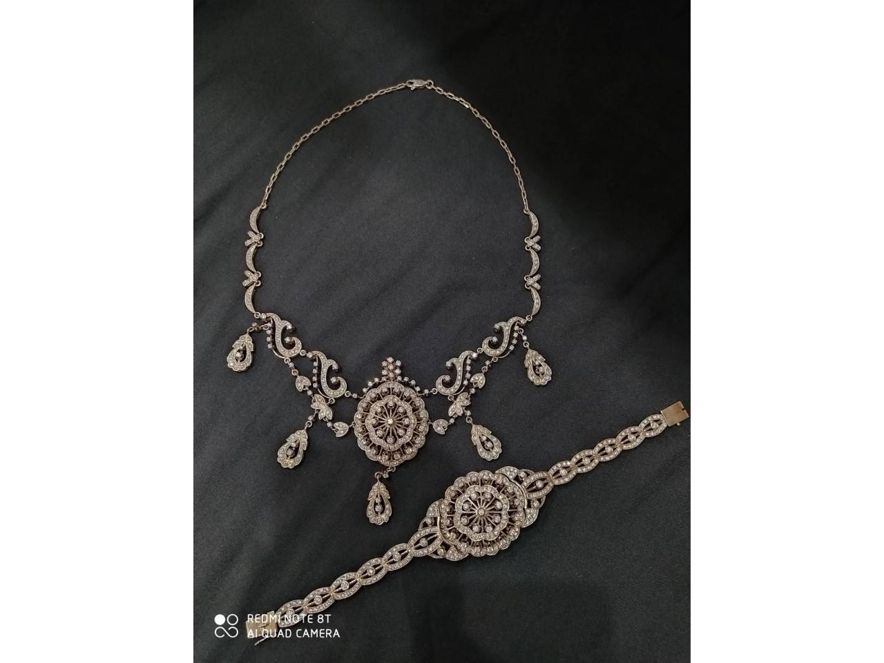 Эксклюзивное ожерелье и брослет серебро 925 пробы - 6