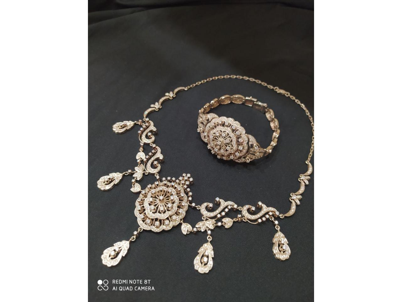 Эксклюзивное ожерелье и брослет серебро 925 пробы - 7