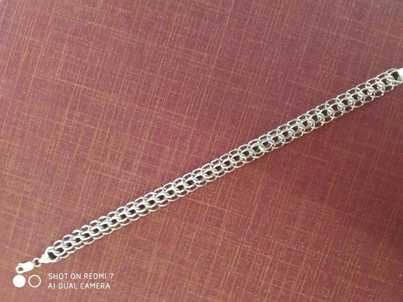 Браслет эксклюзив питон серебро 925проба - 5