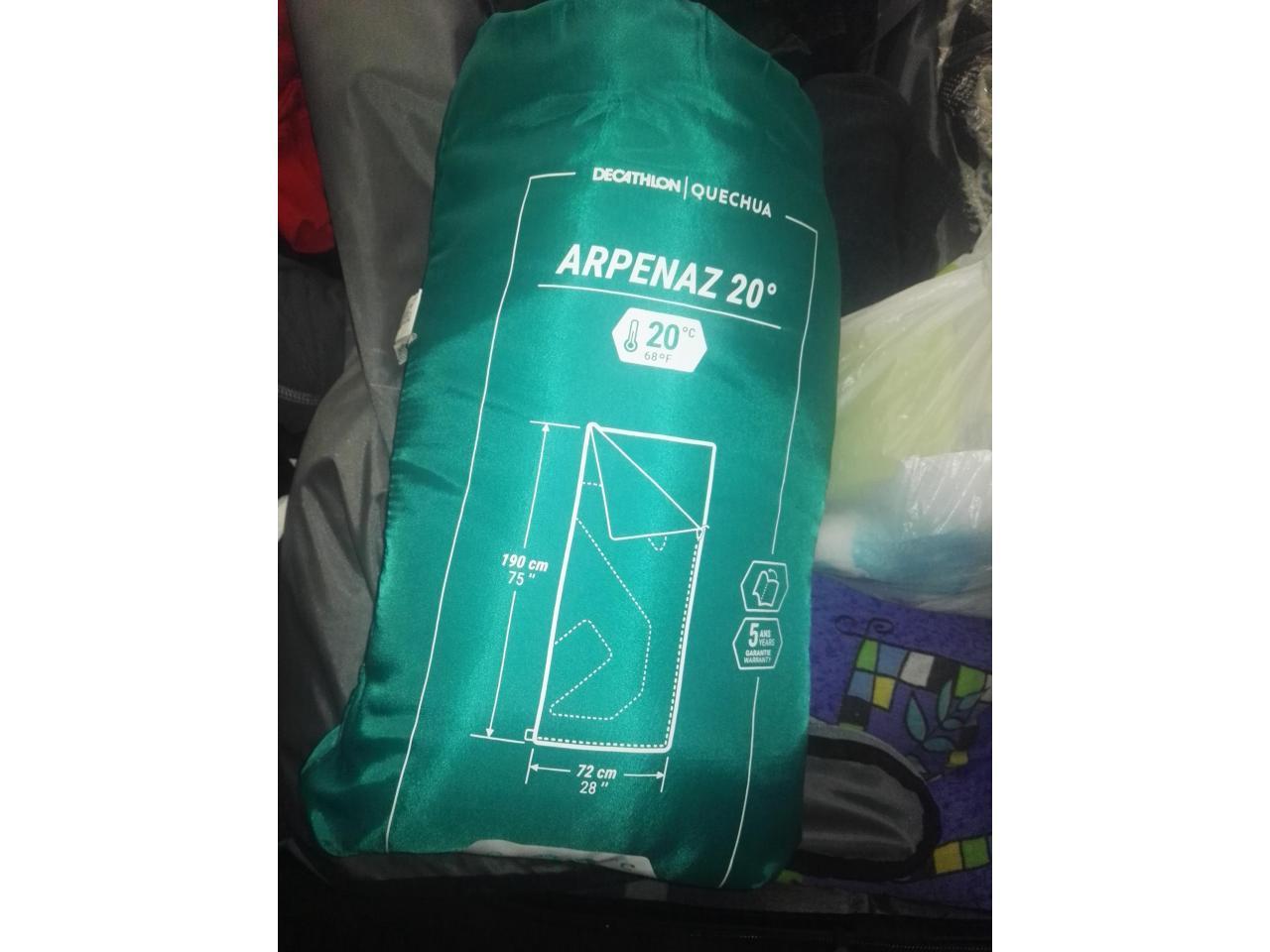 Дорожная сумка- ручная кладь,2 рабочие сапоги, спальный мешок, постельный комплект - 10