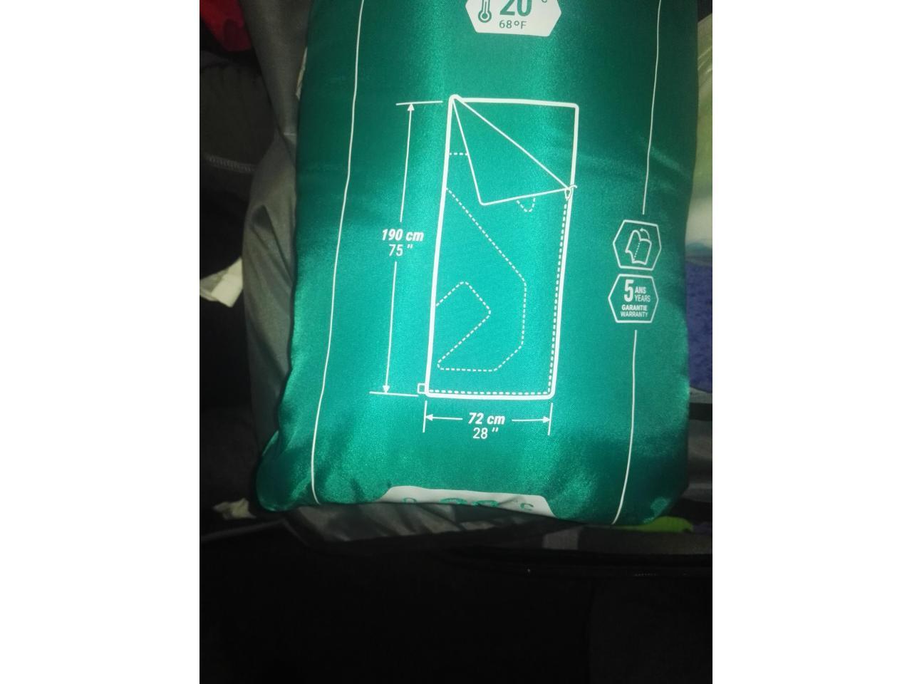 Дорожная сумка- ручная кладь,2 рабочие сапоги, спальный мешок, постельный комплект - 12