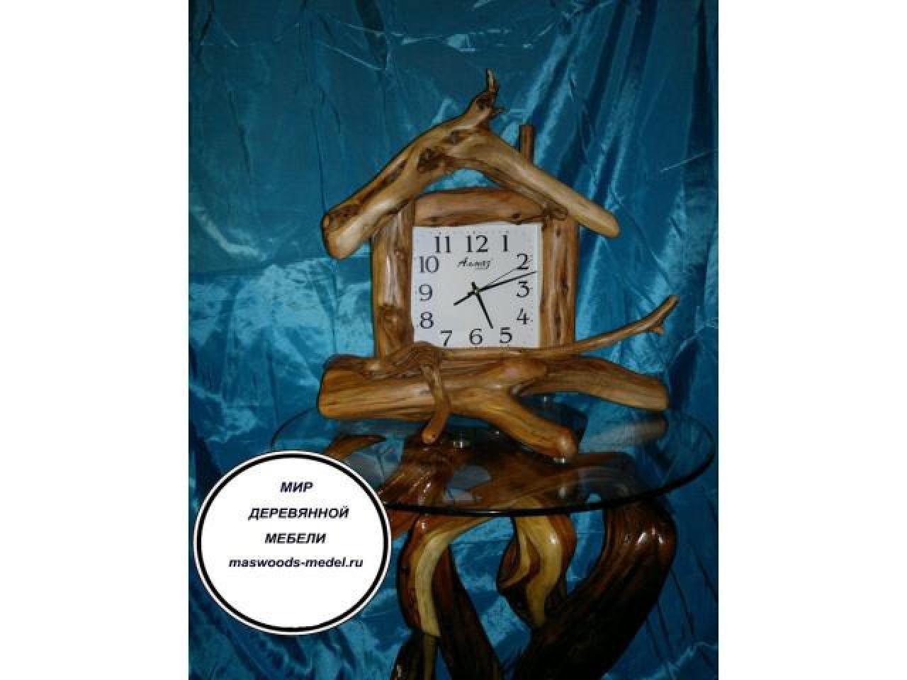 Часы из можжевельника тополя ручной работы - 1