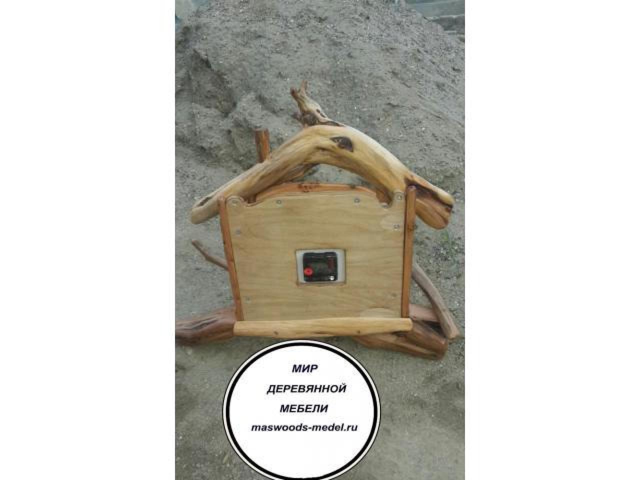 Часы из можжевельника тополя ручной работы - 2