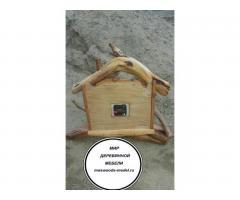 Часы из можжевельника тополя ручной работы