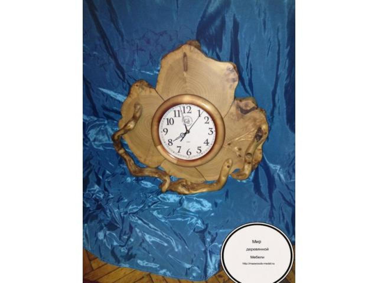 Часы из можжевельника тополя ручной работы - 4