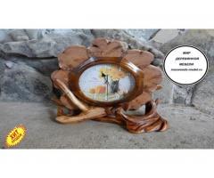 Часы из можжевельника тополя ручной работы - Image 5