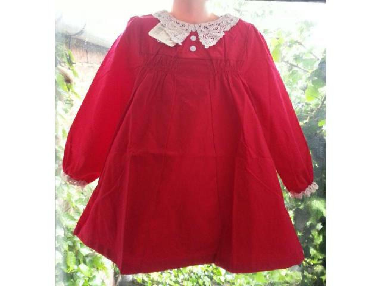Элегантное платье с длинным рукавом и кружевным воротничком для девочек 2-3, 3-4, 4-5, 5-6 и 6-7 лет - 1