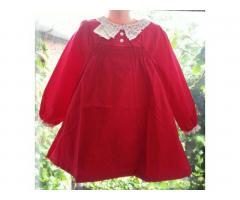 Элегантное платье с длинным рукавом и кружевным воротничком для девочек 2-3, 3-4, 4-5, 5-6 и 6-7 лет