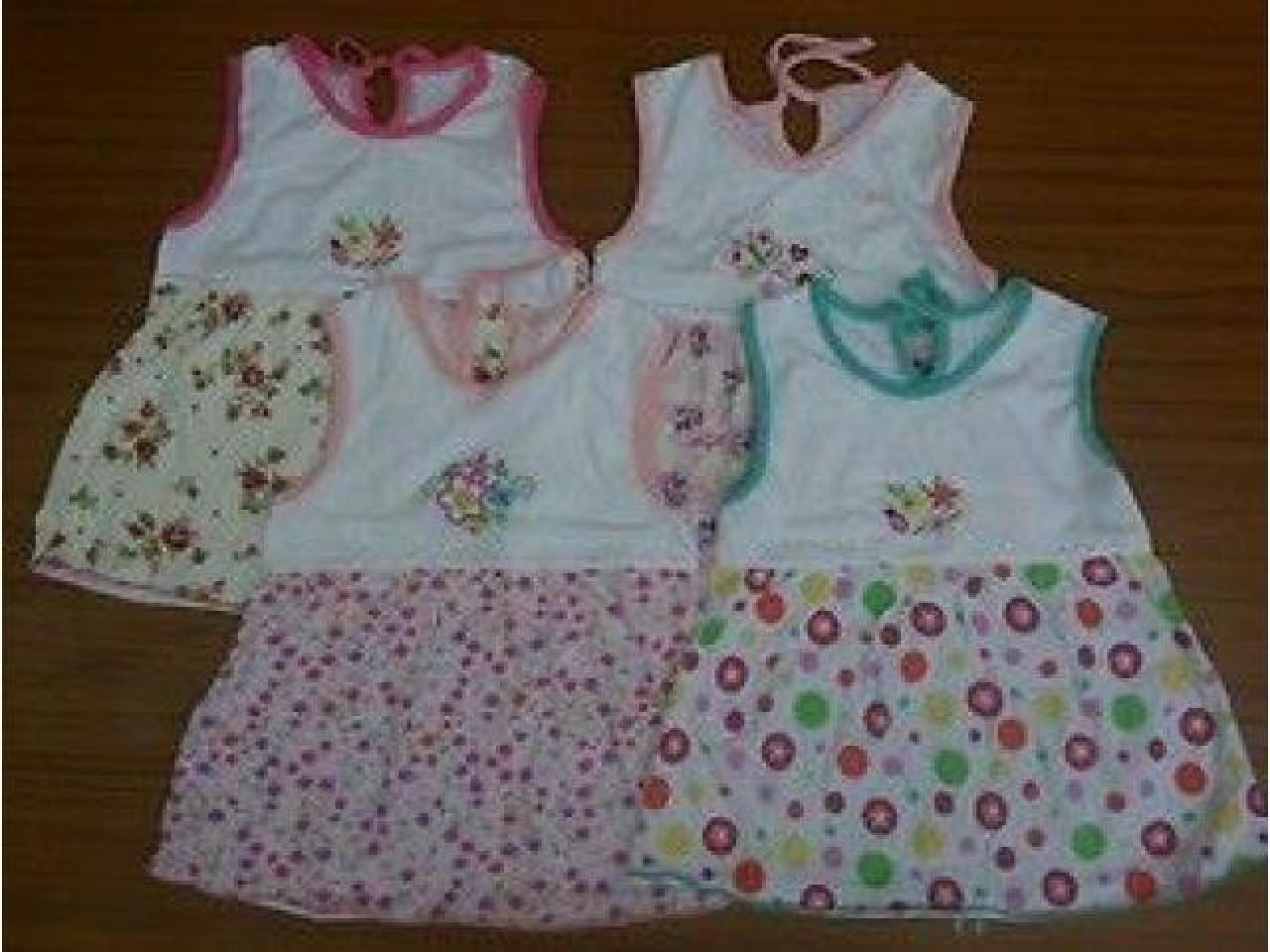 Детское платье на девочек 6-9 месяцев, разные цвета. - 1