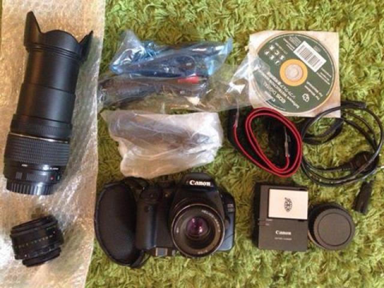Canon 550d + 3 объектива, полный комплект - 1