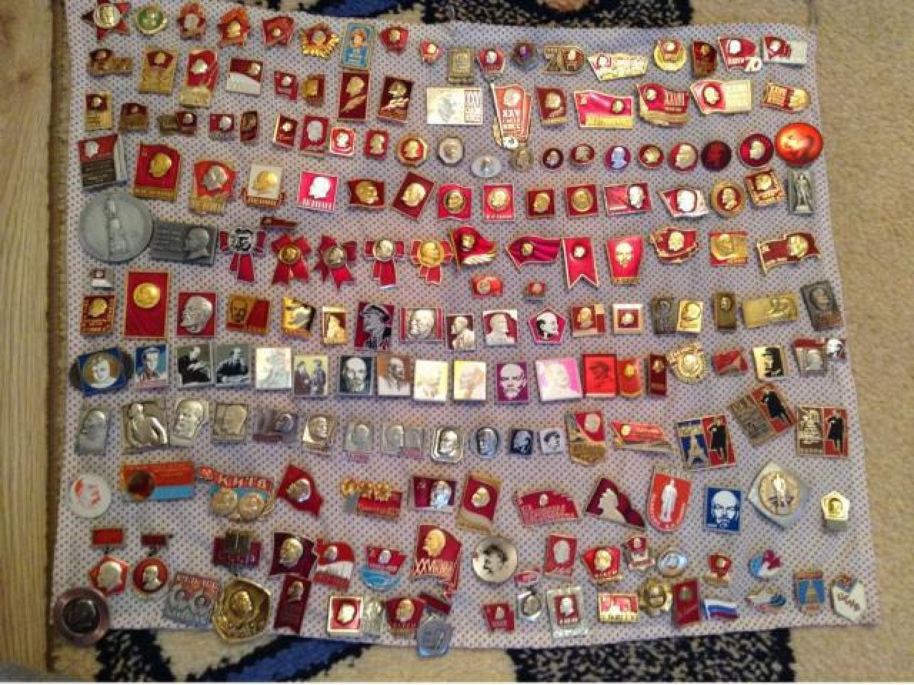 коллекция значков с изображением в.и.ленина - 1