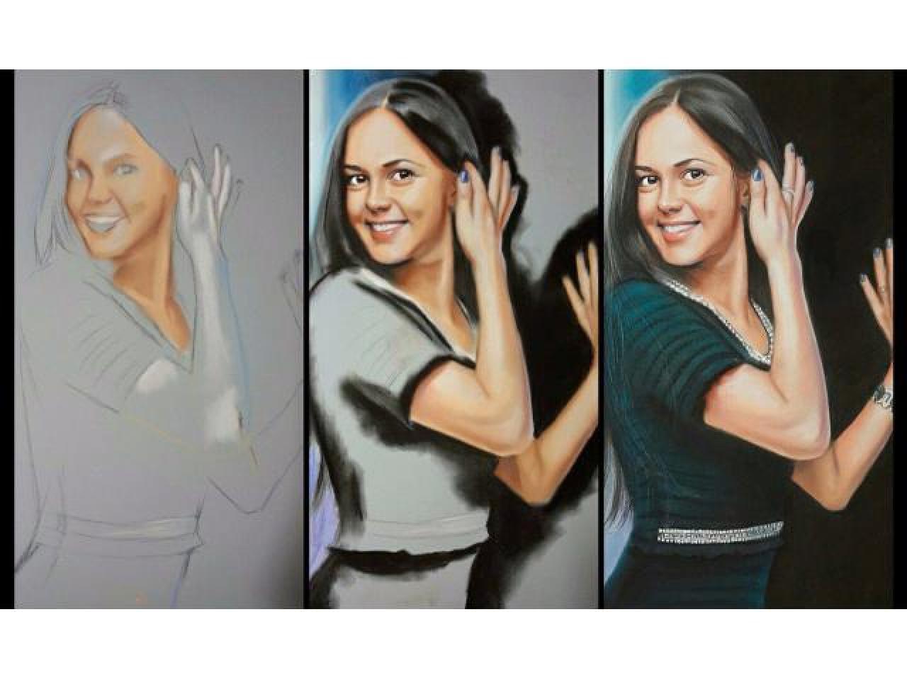 Портрет на заказ маслом, пастелью, карандашом и в других техниках. Картины любой сложности. - 4