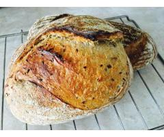 Пеку бездрожжевой хлеб на живой закваске!