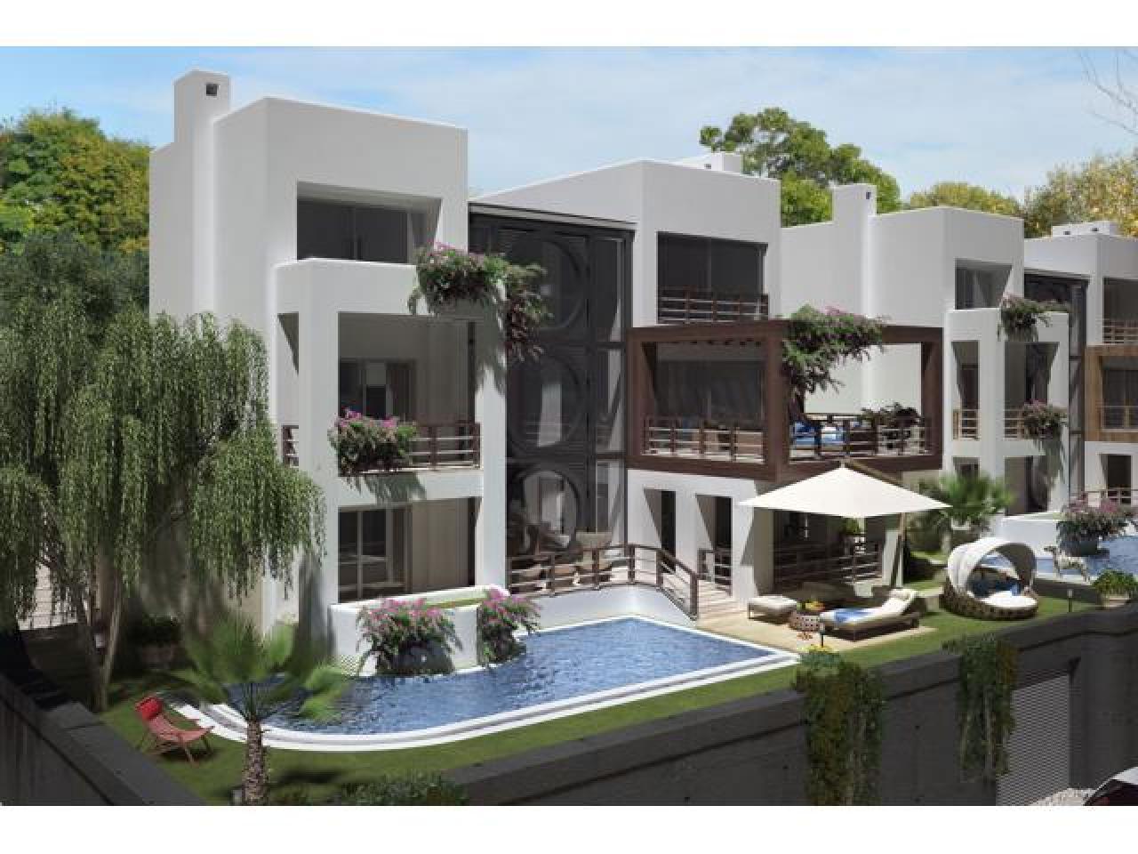 Продаётся шикарная трехэтажная вилла - новострой в районе Бодрума Ялыкавак в Турции. - 1