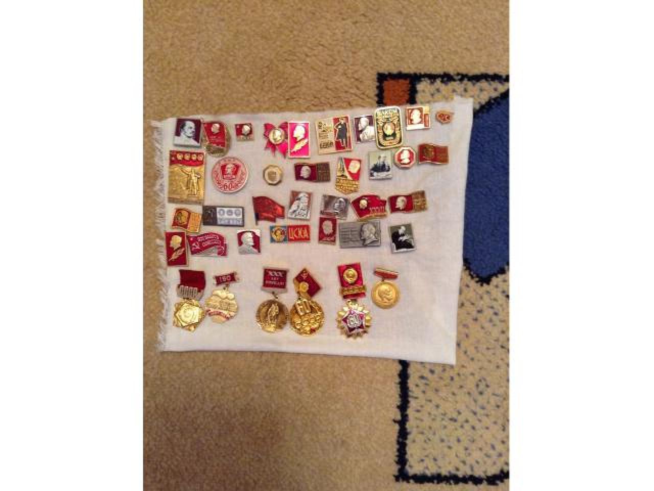коллекция значков с изображением в.и.ленина - 2