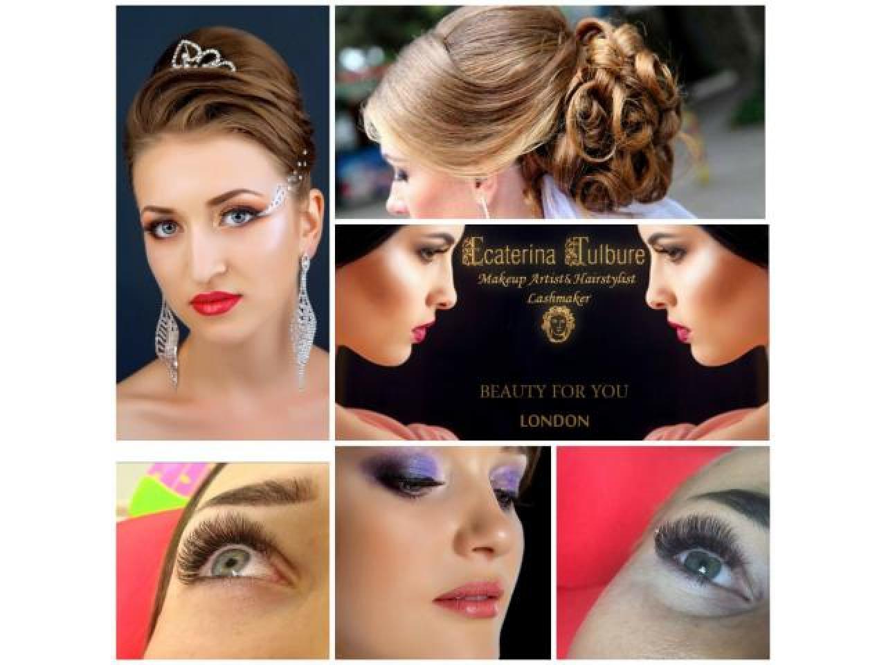 макияж, прически, наращивание ресниц. Makeup, Hairstyle, Eyelash extensions - 1