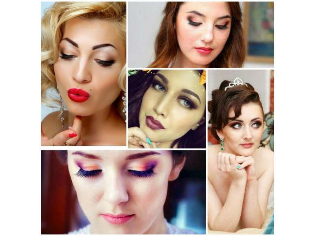 макияж, прически, наращивание ресниц. Makeup, Hairstyle, Eyelash extensions - 4
