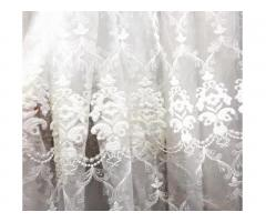 Luxury Embroidered tulle Window Curtains from the Turkish manufacturer.