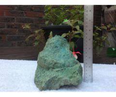 Натуральный необработанный камень хризоколла {зелены)