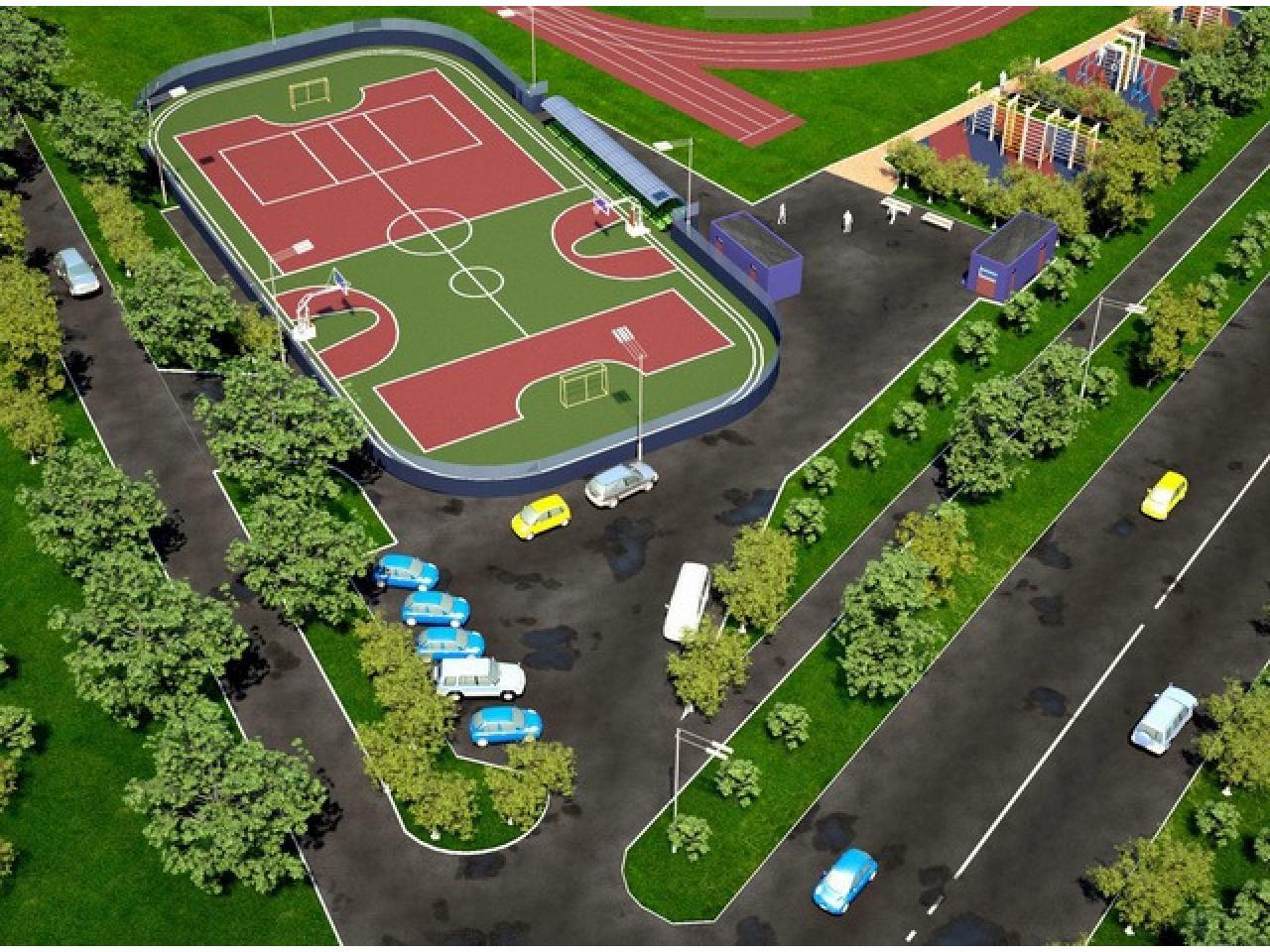 Строительство спортивных, игровых и детских площадок. - 2