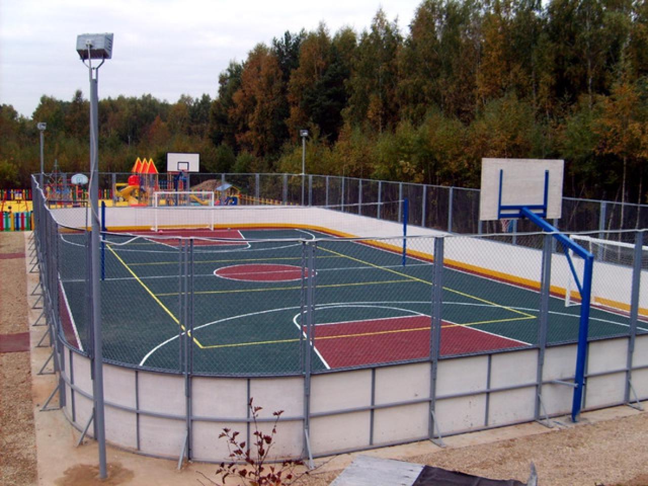 Хоккейная коробка, изготовление и монтаж. По доступной цене и в минимальный срок. - 3