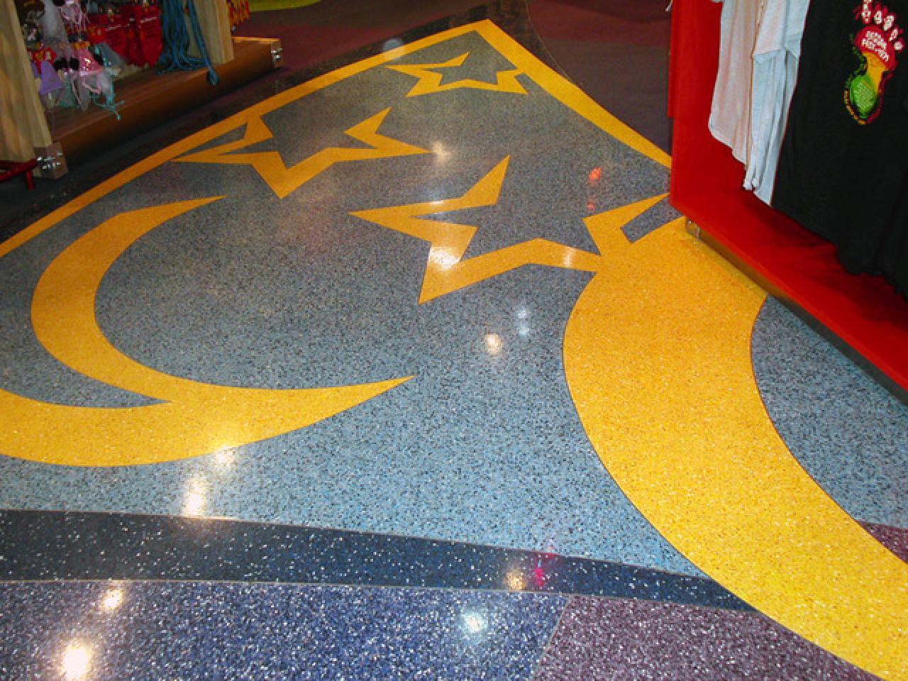 Напольное покрытие каменный пол с использованием кварцевого песка. - 2