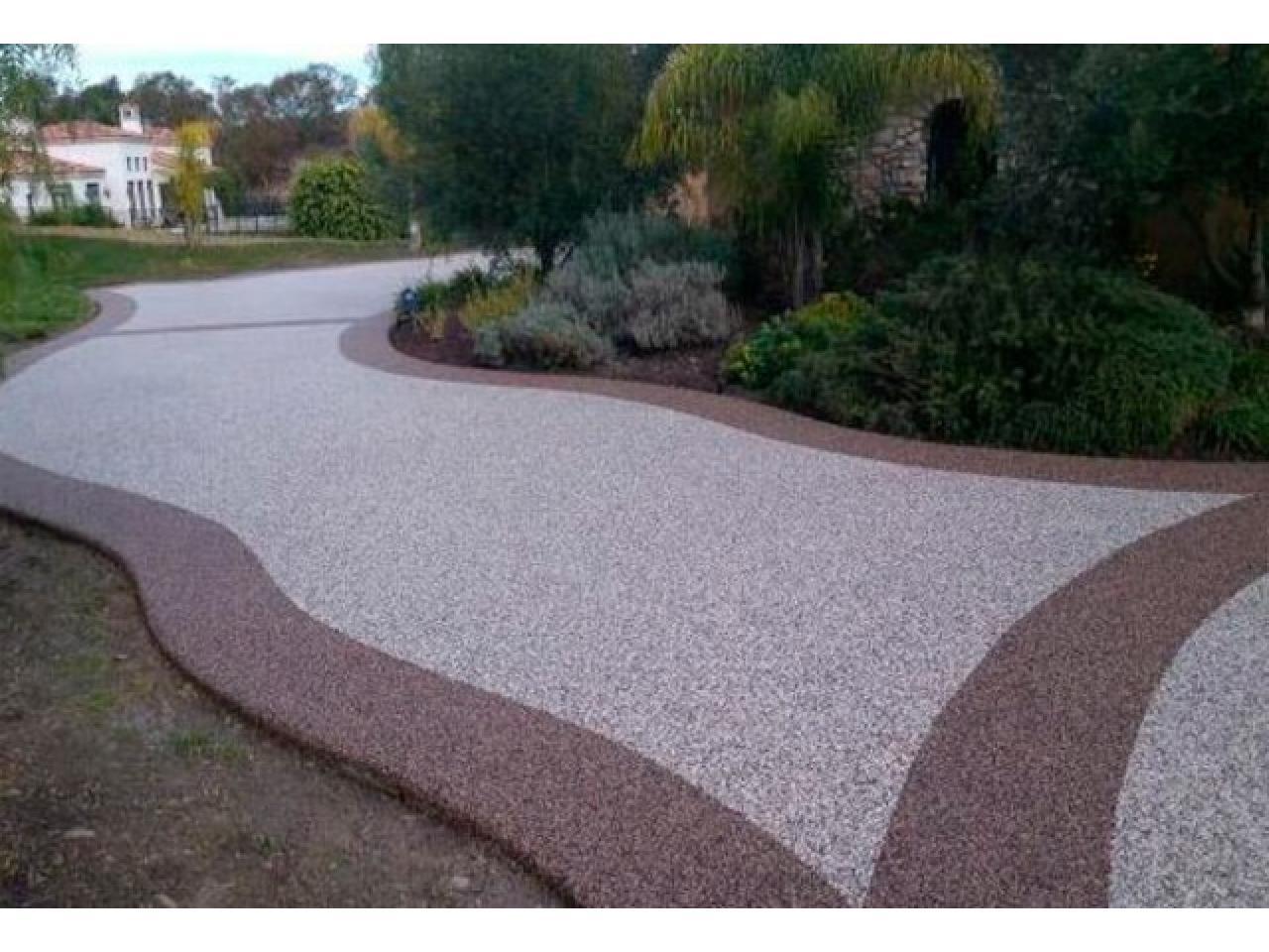 Напольное покрытие каменный пол с использованием кварцевого песка. - 9