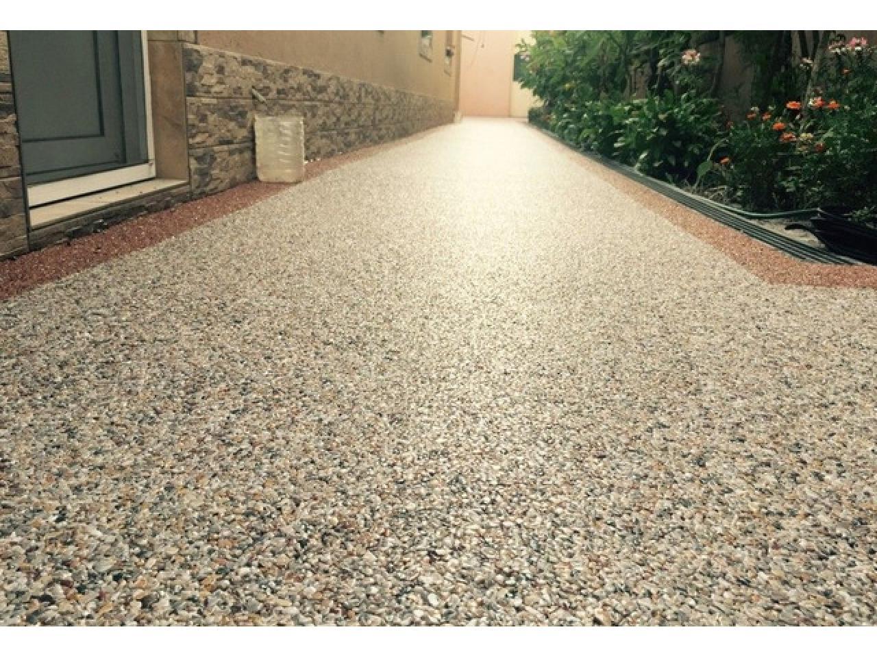 Напольное покрытие каменный пол с использованием кварцевого песка. - 10