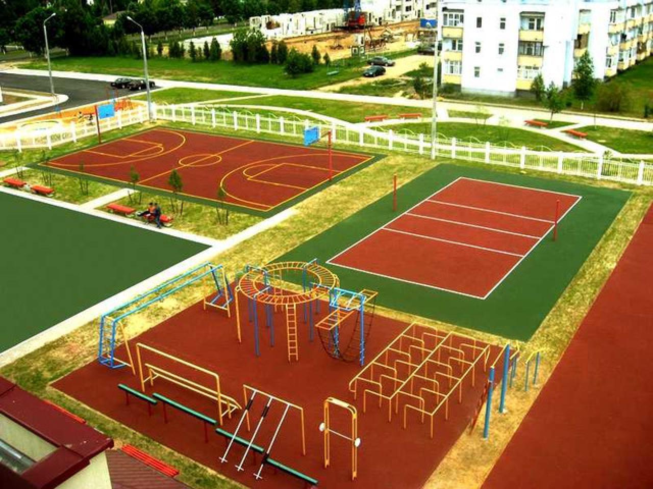 Теннисный корт по доступной цене и в минимальные сроки. Строительство. - 1