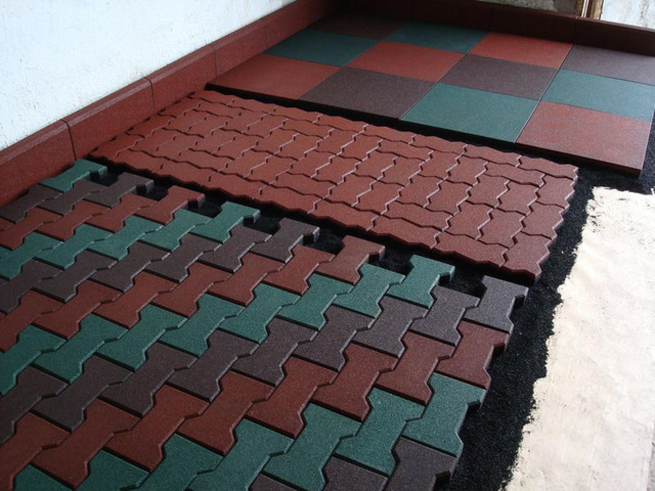 Модульная плитка из резиновой крошки по доступной цене. - 3