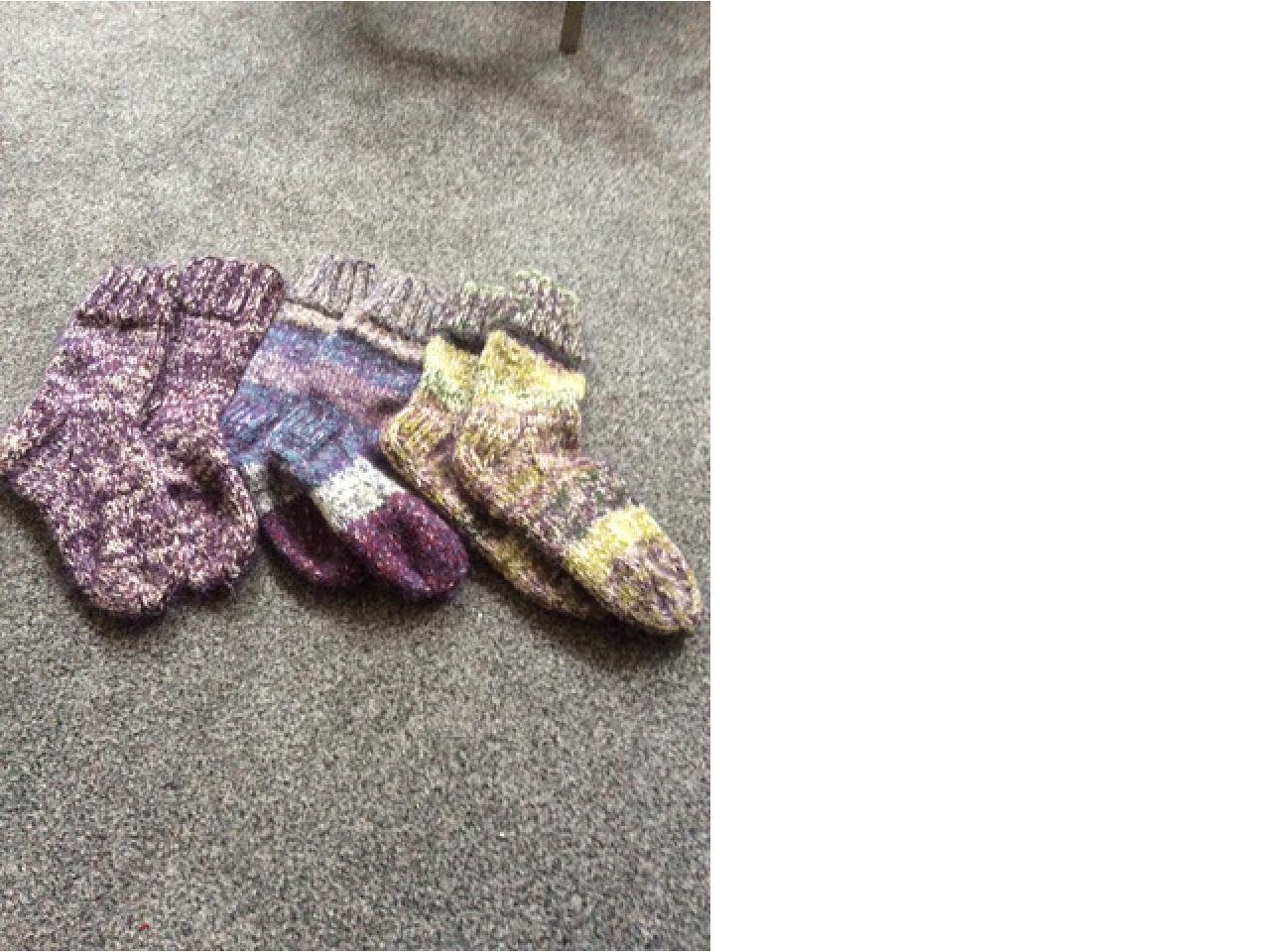 Продаются носки вязанные из натуральной шерсти, разных размеров - 1
